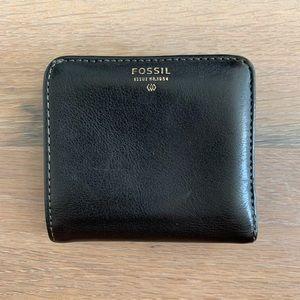 Fossil leather billfold mini wallet